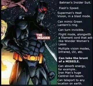 """Batman's """"Insider"""" Suit"""