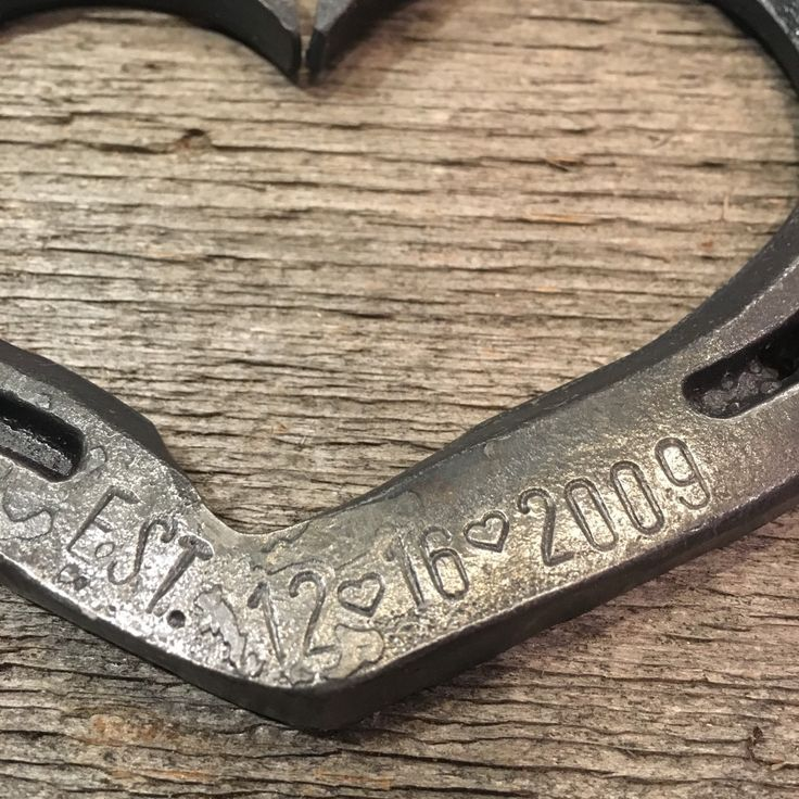 Personalized EST Horseshoe Heart Gift For Wedding Iron Anniversary Sixth Or Eleventh