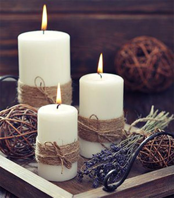 Simple Christmas Candles Decoration ; Table Decorations; Christmas