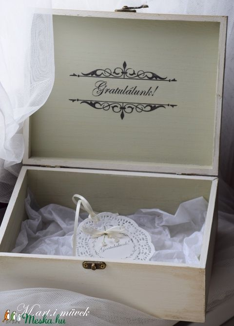 Esküvői  ajándék doboz, nagy (Marti77) - Meska.hu