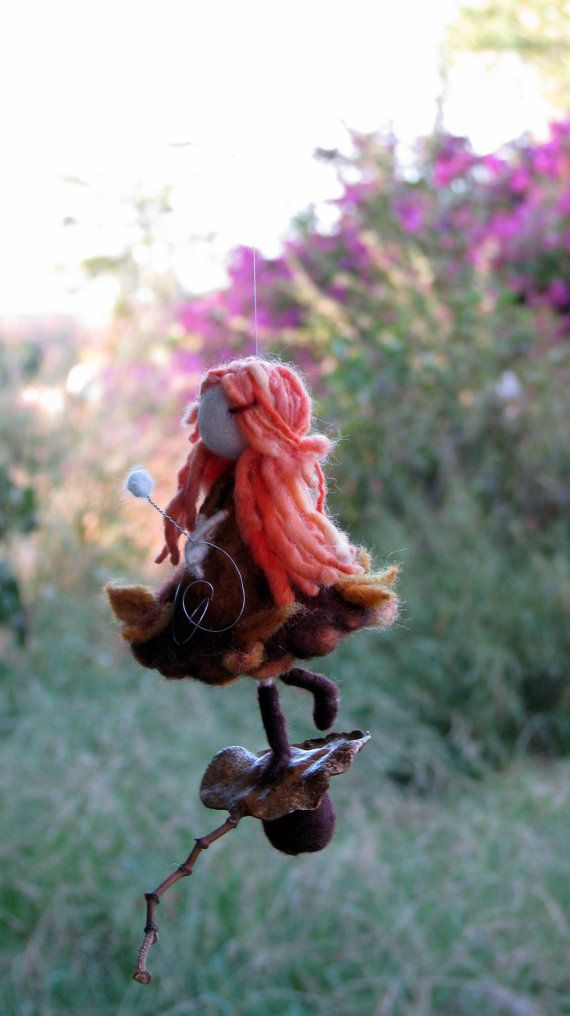 Autumn Fall Fairy Ornament Needle felted Waldorf by Made4uByMagic