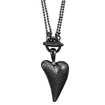 Pilgrim - Halsband Hjärta Hematite