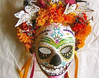 El día de los Muertos día de la máscara de cráneo por MaLadyMasks