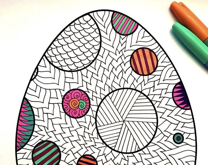 Easter Zentangle Coloring Pages on a budget