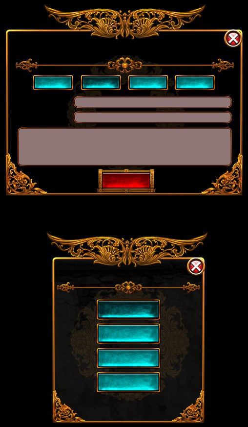 Finely pixalated aquamarine gem encrusted hyperlinks and gray text bars, with an elegant ornamental border, on a black back ground, very striking!