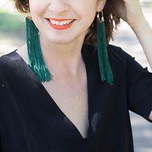 2017 Nuovo arrivo Moda Orecchini Di Lusso Boho Style Lega Gancio bastone Verde Nappa Orecchini di Goccia per le donne collier Bijoux(China (Mainland))