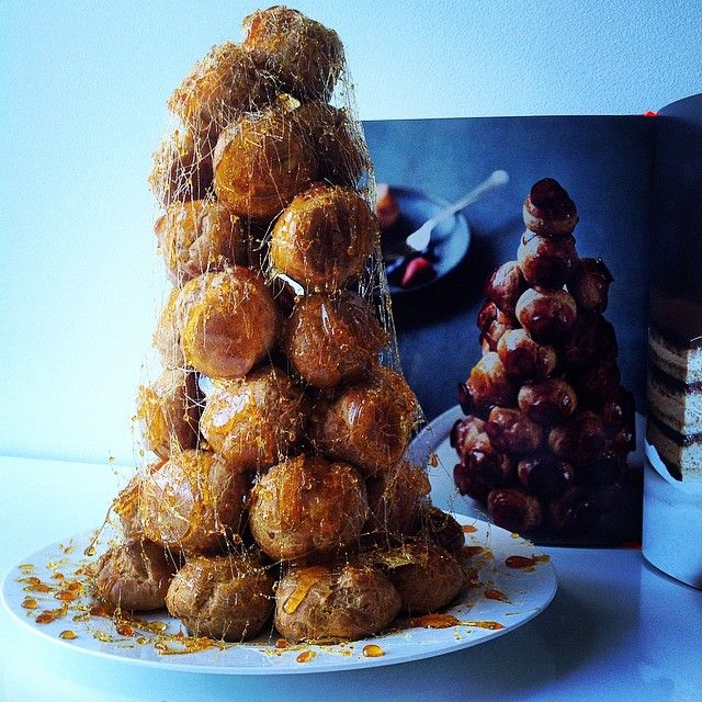 """Our art director Daniel is outdoing us all for #lanternpagetoplate. This Mini Croquembouche from Alison Thompson's Sweet looks stunning and will be…"""