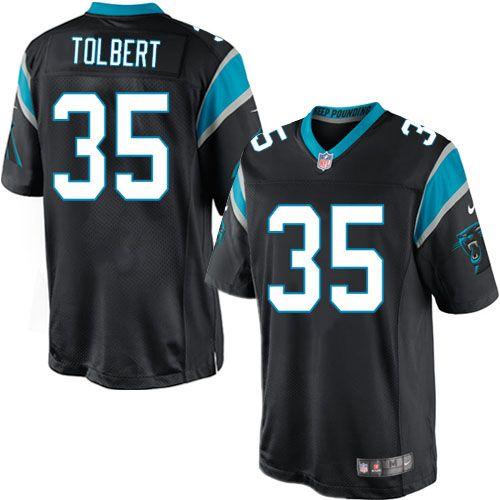 Men Nike Carolina Panthers #35 Mike Tolbert Limited Black Team Color NFL Jersey Sale