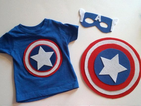 Boys Captain America Inspired Costume Set by SweetLaylaKays, $15.00