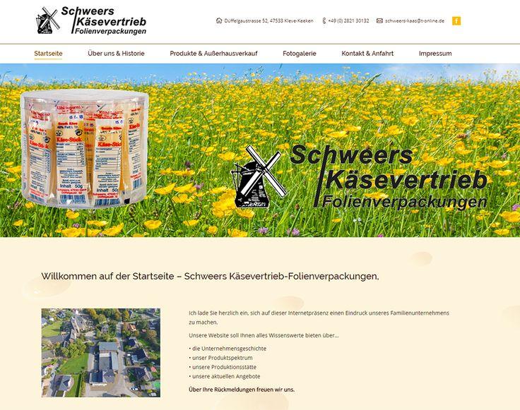 Schweers Käsevertrieb - Webdesign