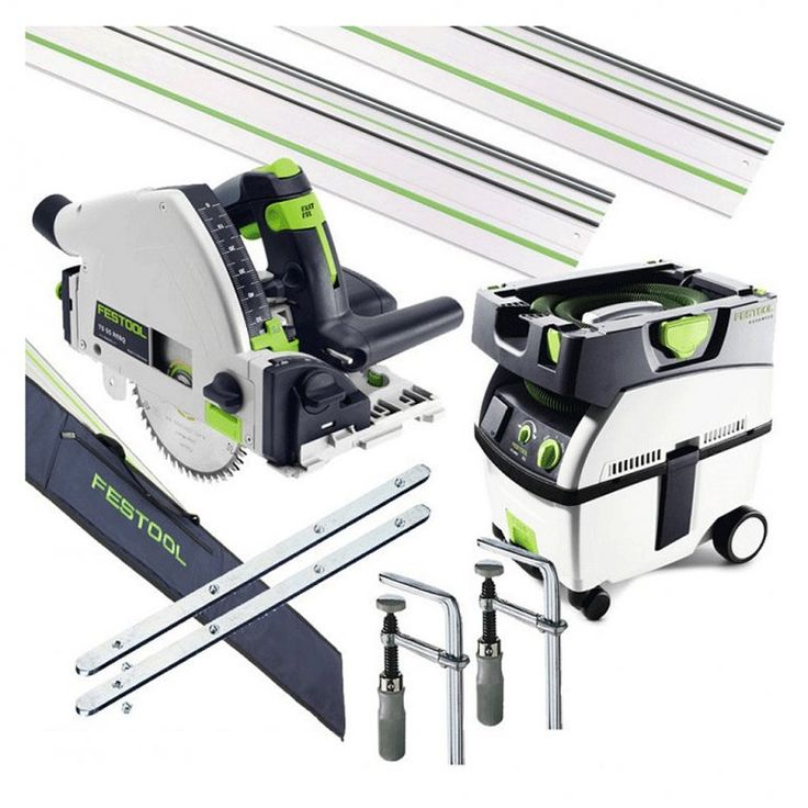 FESTOOL TS55R AND CTL MIDI PLUNGE SAW AND DUST EXTRACTOR SET