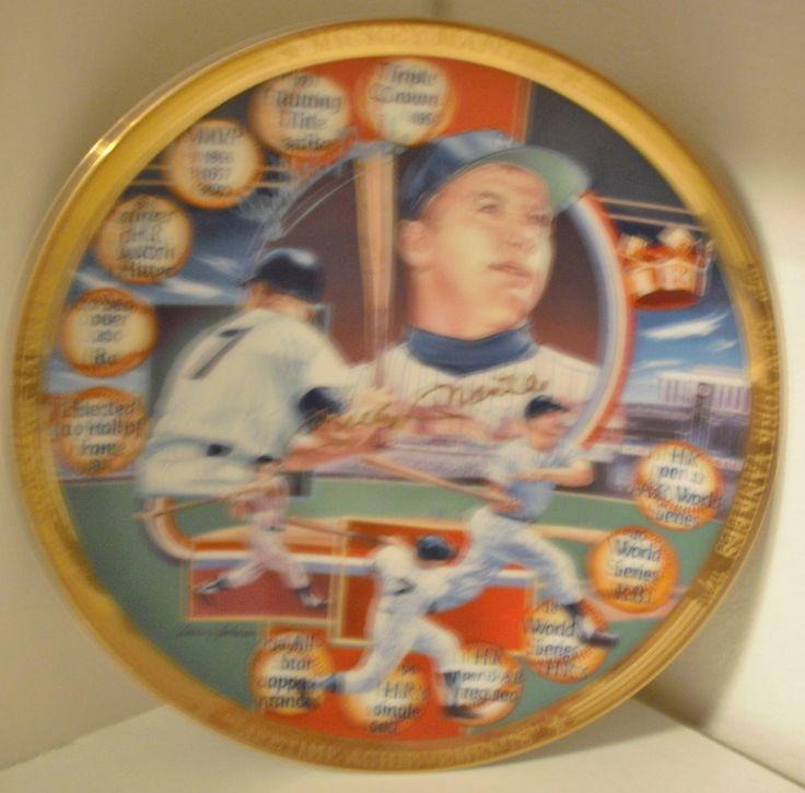 Vintage Rare Mickey Mantle Lifetime Achievement Collectors Plate