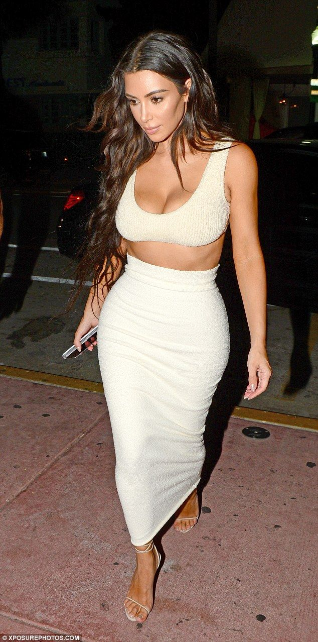 Highlight your figure like Kim in a bodycon skirt by Yeezy #DailyMail Click 'Visit' to buy now