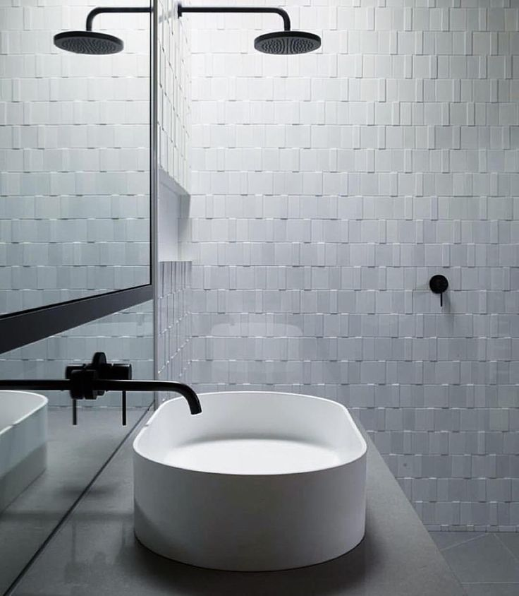 Format White Mix by #INAXJapan matte and gloss white tiles with two thickness'…