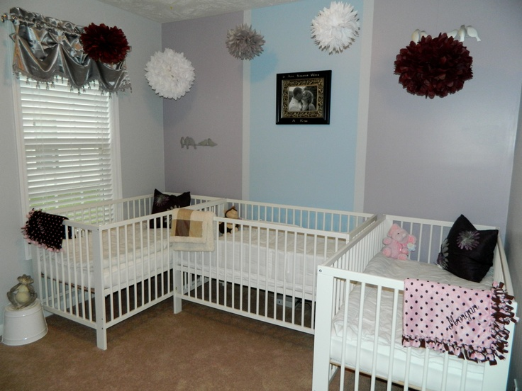 Short on space triplet nursery!