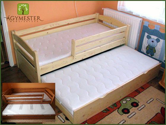 Huncut ágy, kihúzható vendégággyal