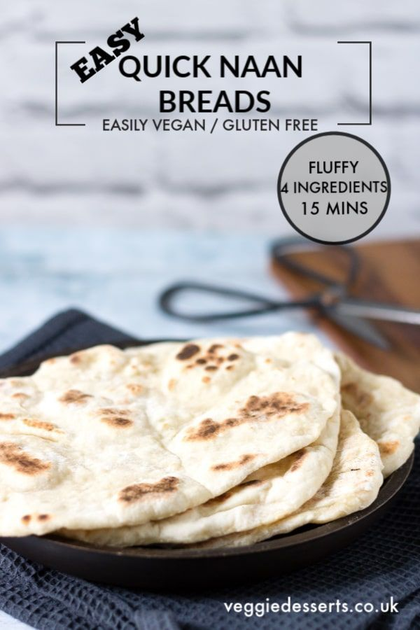 Quick And Easy Yeast Free Naan Bread Recipe Yeast Free Breads Gluten Free Naan Bread Naan Bread Vegan
