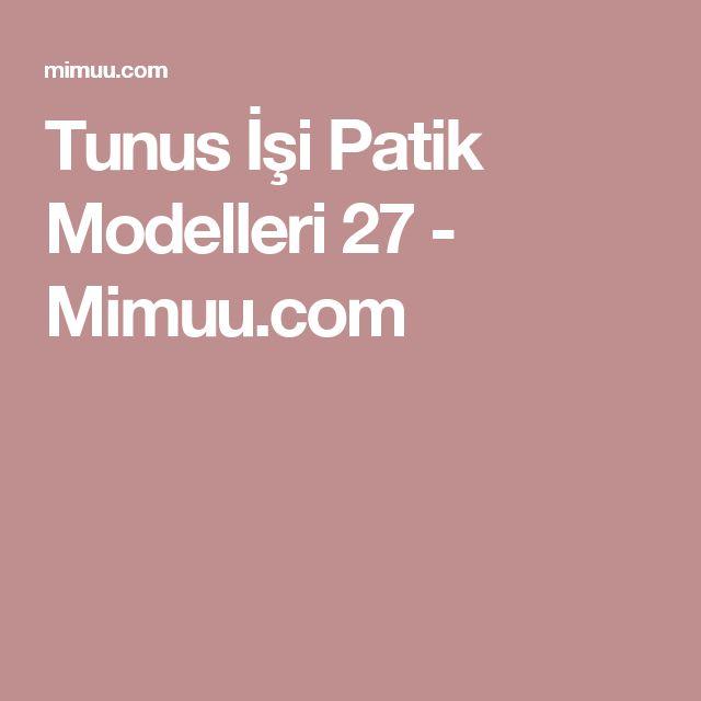 Tunus İşi Patik Modelleri 27 - Mimuu.com