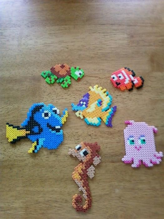 Finding Nemo characters perler beads by Kaitlynn G.- Perler® | Gallery