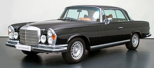 Mercedes-Benz W111 M-Coupe 5.5, 2017 (1970). A restomod Mercedes Coupé is being offered for sale in Germany by Mechatronik. The car has been fully restored and refitted with a contemporary 5.5 litre AMG engine in combination with the corresponding powertrain, modern brake system and modified chassis.