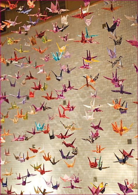 As a child/teen, the Japanese exchange students we had gave me a string of oragami cranes which hung in my bedroom for years.