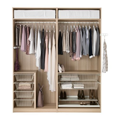 pax wardrobe white stained oak effect f rvik white glass to be wardrobes and shoes. Black Bedroom Furniture Sets. Home Design Ideas