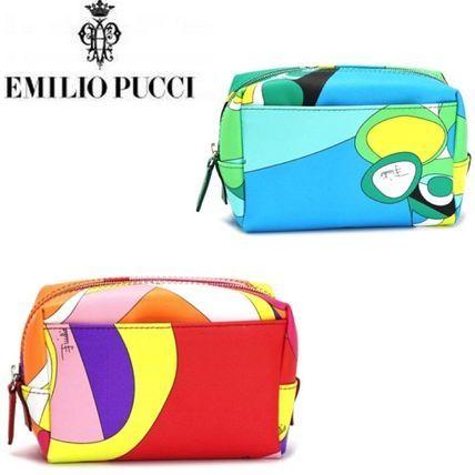 Emilio Pucci ポーチ 人気☆Emilio Pucci/エミリオプッチ☆コスメポーチ(2カラー)