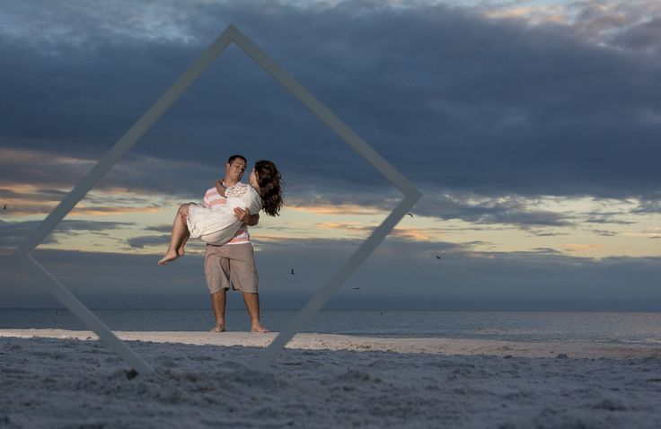 Ricky and Meghan's engagement shoot @FtMyersbeach