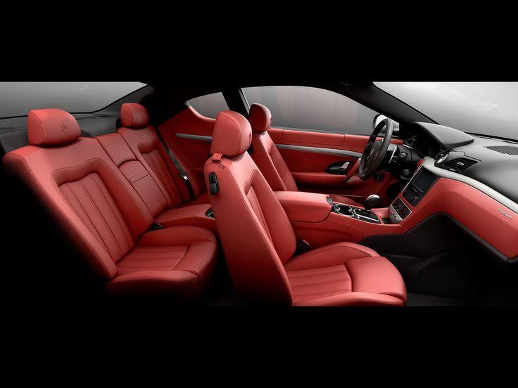 Maserati red leather.