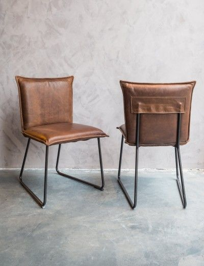 Comfortabele lederen stoelen
