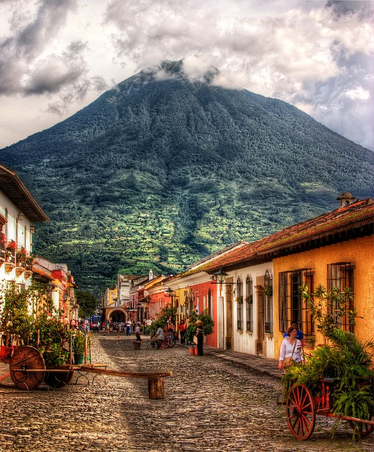 Antigua Guatemala which means ancient Guatemala is a old city which had a  flood and lots of volcano