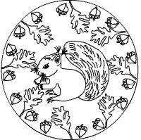 eichhörnchen mandalas - ausmalbilder für kinder