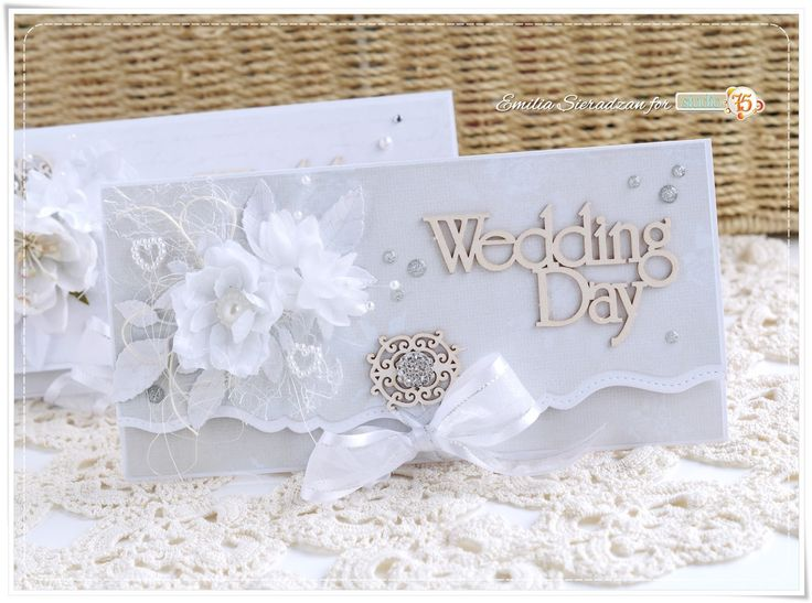 Hi :) Today I'd love to share with you envelope style wedding cards.   Very easy to make and really elegant!   I've used beautiful 'Love Le...