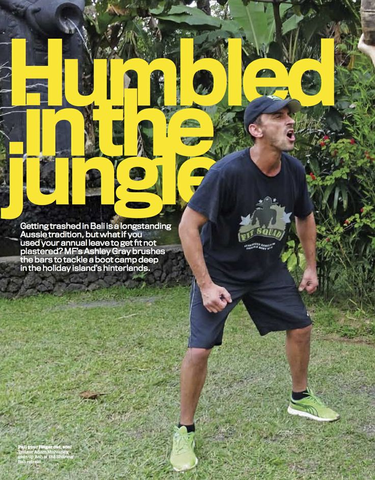 trading the Bintang Beer for Bali Bootcamp... Fit Squad retreat at Sharing Bali. As seen in Australian Mens Fitness Magazine