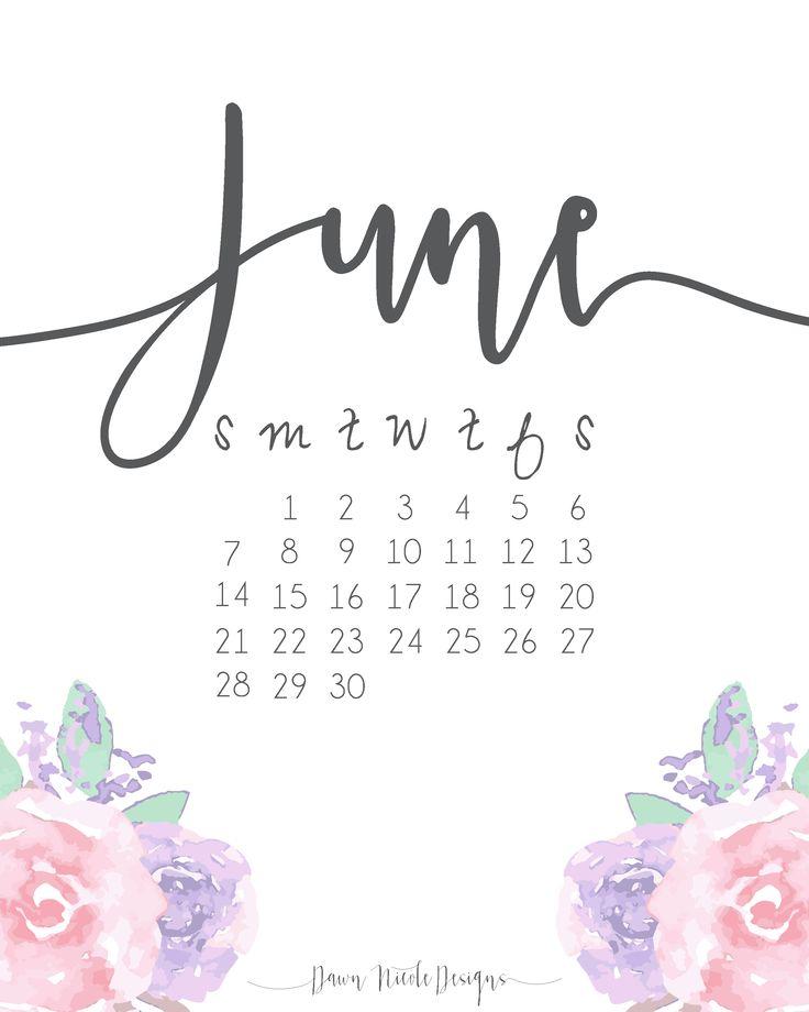 june calendar printables printable templates free printables june 2016 ...