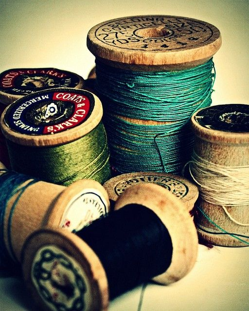 I have this thing for old spools of thread