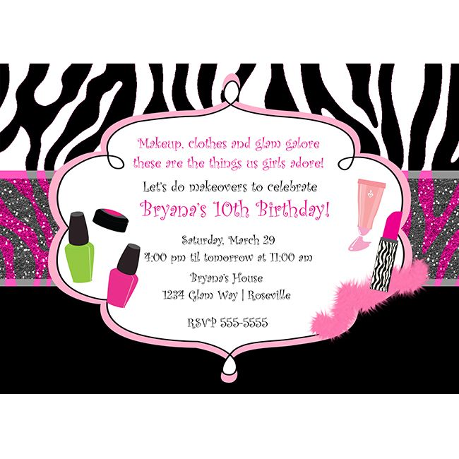 41 best Princess Parties images – Makeover Party Invitations