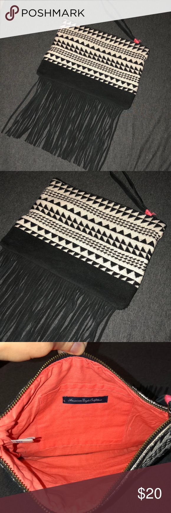 "AEO Suede Fringe /Wristlet NWOT, never used wristlet/clutch  7.5"" x 10"" Fringes are 7"" American Eagle Outfitters Bags Clutches & Wristlets"