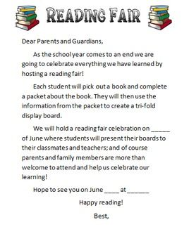 Utilize this packet provided to host a trifold reading fair at your school. The students pick a book and then complete the packet by using information from their book. Then you can have students cut apart the packet to glue to their trifold display board.