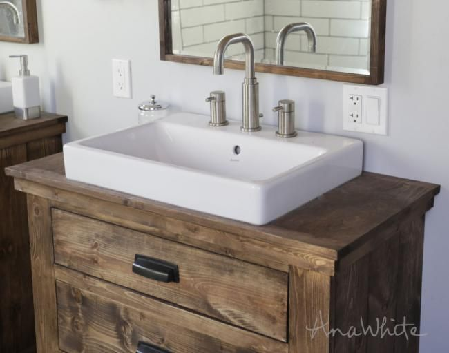 Anna Farmhouse Sink With Images Rustic Bathroom Vanity Diy