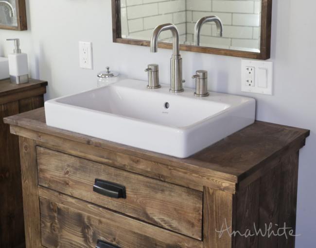 Anna Farmhouse Sink Rustic Bathroom Vanity Diy Diy Bathroom Vanity Unique Bathroom Vanity