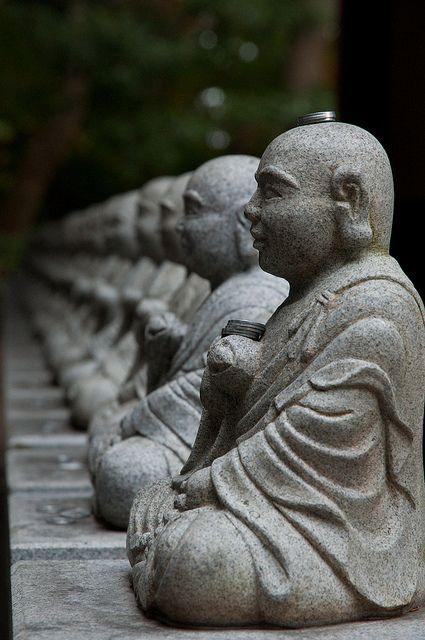 Buddha statues at Mt.Takao, Japan