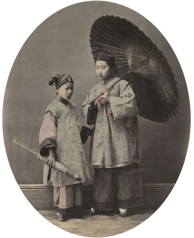 William Saunders, Shanghai Woman and Child, 1860s-1870s, Hand-tinted albumen silver print. No. 13 in Sketches of Chinese Life and Character series