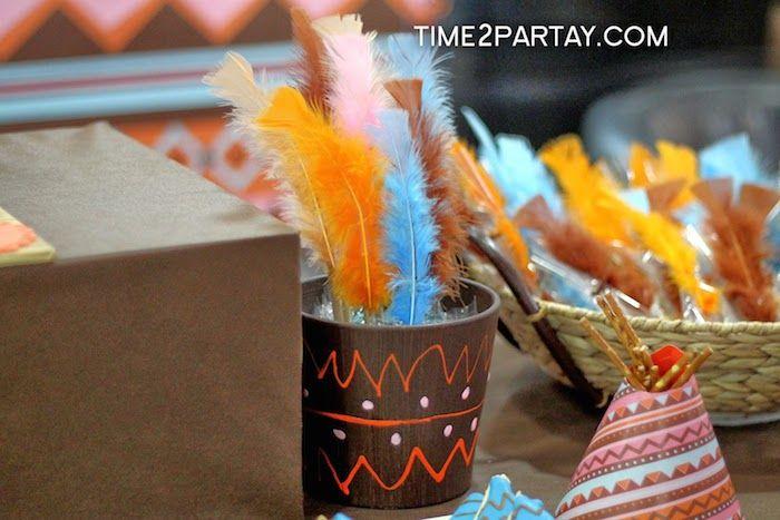 Aztec & Pocahontas themed birthday party