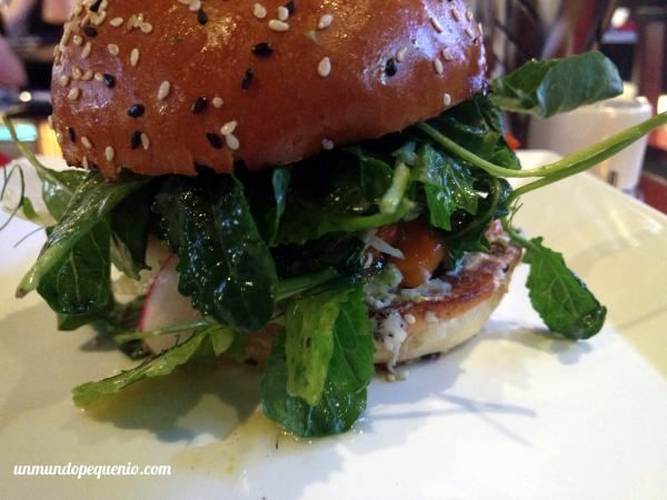 "Portobella Burguer del restaurant ""Burguer"" de Gordon Ramsay en Las Vegas #Vegas #burguer #veggie"