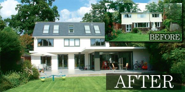 Exterior Remodeling Before And After This Remodelling Scheme Was Designed By Back To Front Exterior Design Exterior Remodels Pinterest Estate Agents