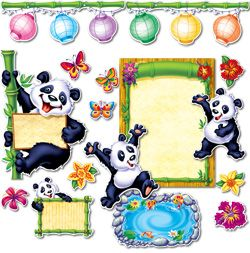 An Awesome Bulletin Board set celebrating Pandas from Creative Teaching Press!
