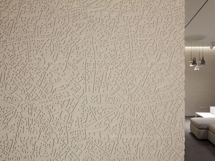 Modular indoor/outdoor 3D Wall Panel CITYMAP by 3D Surface design Andrea Castrignano
