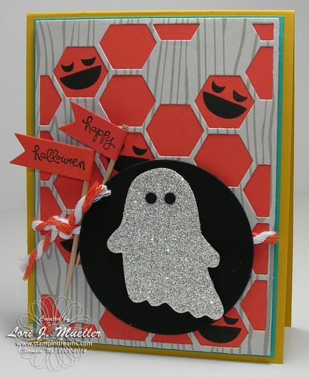 Stampin Up Fall Fest stamp set and fun fall frames. Halloween ghost card.