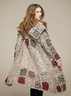 Crochet patterns: Crochet Winter Coats - Charts and so Much More ✿⊱╮Teresa Restegui http://www.pinterest.com/teretegui/✿⊱╮